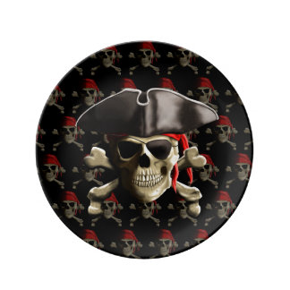 Pirate Skull And Hat Plate