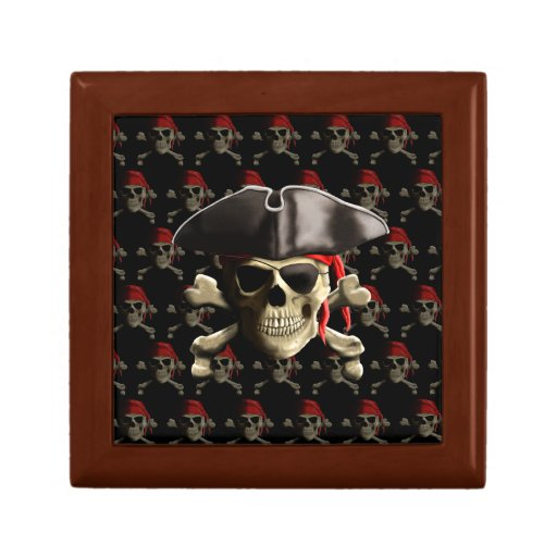 Pirate Skull And Hat Trinket Box