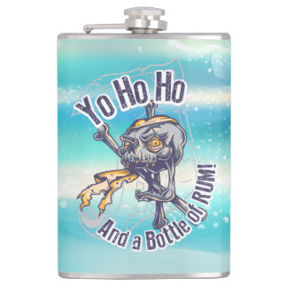 Pirate Skull and Rum Hip Flask