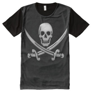 Pirate Skull and Sword Crossbones (TLAPD) All-Over Print T-shirt