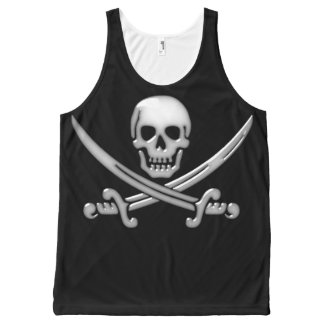 Pirate Skull and Sword Crossbones (TLAPD) All-Over Print Tank Top