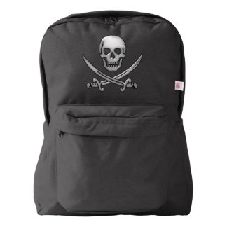 Pirate Skull and Sword Crossbones (TLAPD) American Apparel™ Backpack