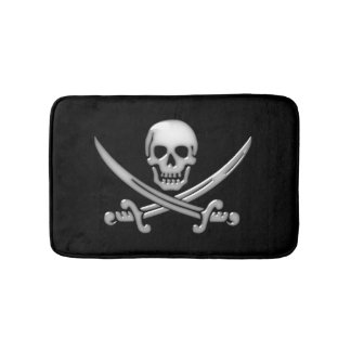 Pirate Skull and Sword Crossbones (TLAPD) Bathroom Mat