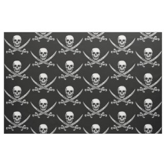 Pirate Skull and Sword Crossbones (TLAPD) Fabric
