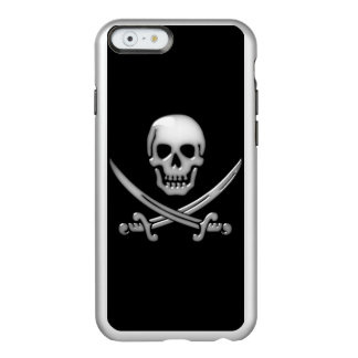 Pirate Skull and Sword Crossbones (TLAPD) Incipio Feather® Shine iPhone 6 Case