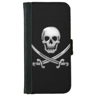 Pirate Skull and Sword Crossbones (TLAPD) iPhone 6 Wallet Case