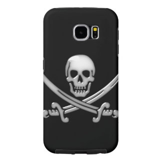 Pirate Skull and Sword Crossbones (TLAPD) Samsung Galaxy S6 Cases