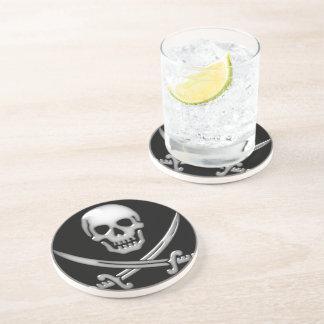 Pirate Skull and Sword Crossbones (TLAPD) Sandstone Coaster