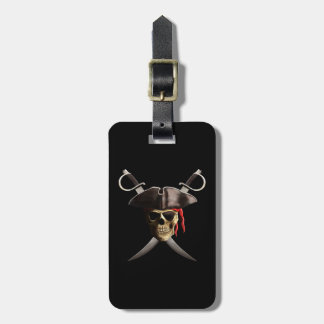 Pirate Skull And Swords Bag Tag