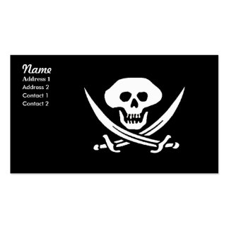 Pirate Skull and Swords, Double-Sided Standard Business Cards (Pack Of 100)