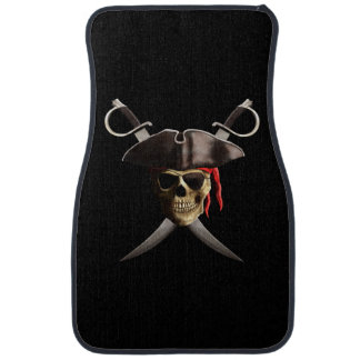 Pirate Skull And Swords Car Floor Mat