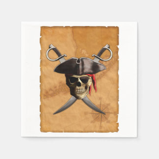 Pirate Skull And Swords Disposable Napkin
