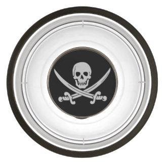 Pirate Skull and Swords Dog Bowl