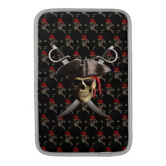 Pirate Skull And Swords Sleeves For MacBook Air