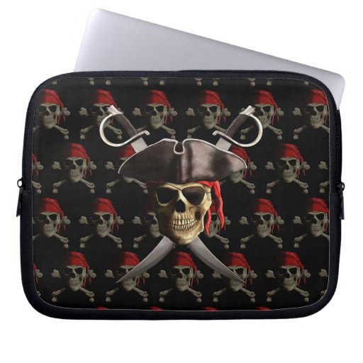 Pirate Skull And Swords Laptop Sleeves