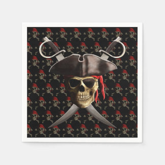 Pirate Skull And Swords Paper Napkin