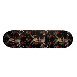 Pirate Skull And Swords Skateboard