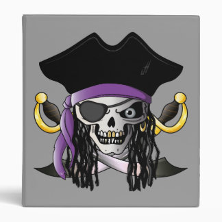 'Pirate Skull' Avery Binder