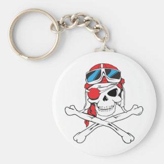 Pirate Skull Basic Round Button Keychain