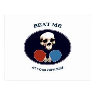 Pirate Skull Beat Me Ping Pong Postcard