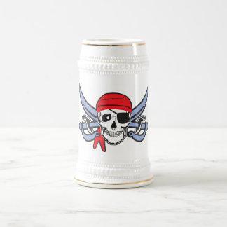Pirate Skull Beer Stein