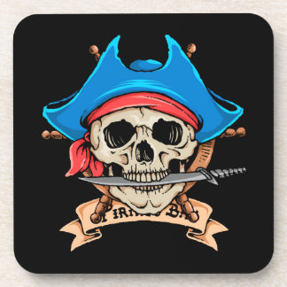Pirate Skull Biting Knife Coaster