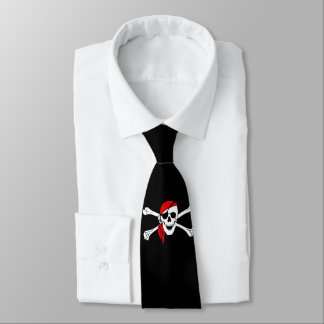 Pirate Skull Black Tie