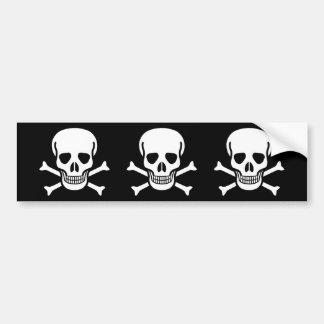 Pirate Skull & Bones Bumper Sticker