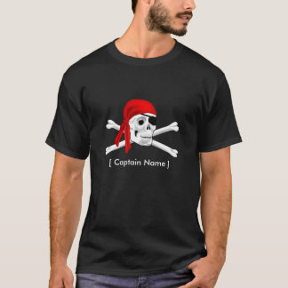 Pirate Skull & Bones Captain Mens T-shirt