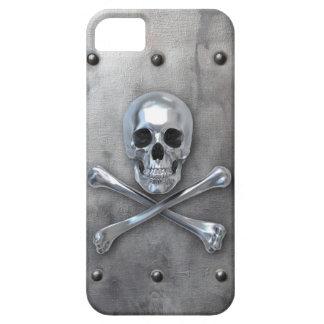 Pirate Skull Bones on Metal iPhone SE/5/5s Case