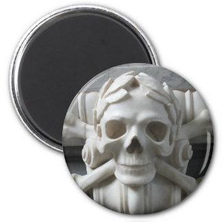 Pirate Skull & Bones Round Fridge Magnet