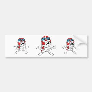 Pirate Skull Bumper Sticker