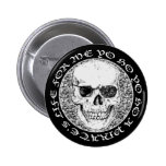pirate skull button