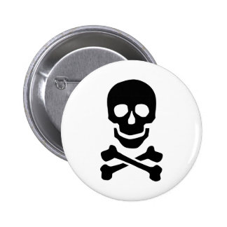 Pirate skull buttons