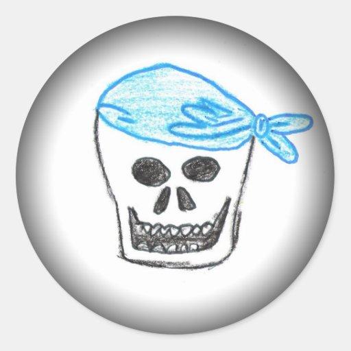 Pirate Skull by Flash Allen Round Sticker