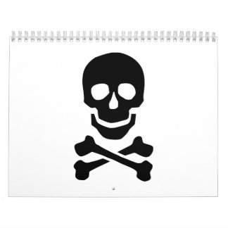 Pirate skull calendar