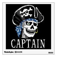 Pirate Skull - Captain Room Graphic