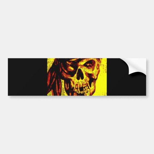 Pirate Skull Car Bumper Sticker