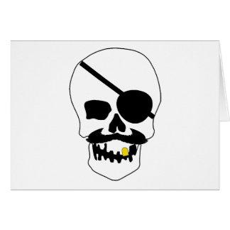 Pirate Skull Card
