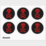 Pirate Skull Classic Round Sticker