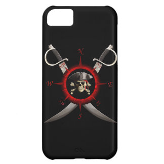 Pirate Skull Compass Rose Cover For iPhone 5C