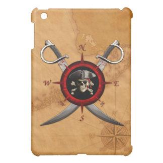 Pirate Skull Compass Rose iPad Mini Cases