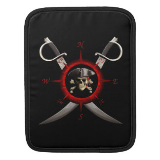 Pirate Skull Compass Rose Sleeves For iPads