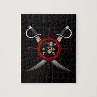 Pirate Skull Compass Rose Puzzle