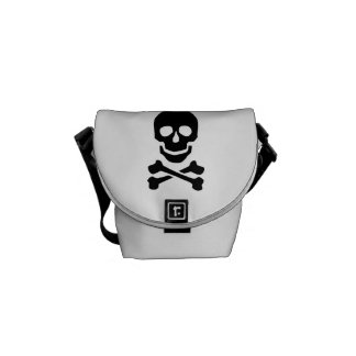 Pirate skull courier bag