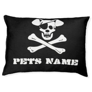 Pirate Skull & Crossbones  Indoor Dog Bed - Large Large Dog Bed