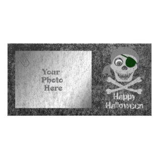 Pirate Skull Crossbones Photo Card