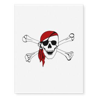 PIRATE SKULL & CROSSBONES ~ ~ ~.png Temporary Tattoos