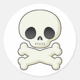 Pirate Skull & Crossbones Round Sticker