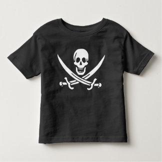 Pirate Skull Crossed Swords Jolly Roger Flag Toddler T-shirt